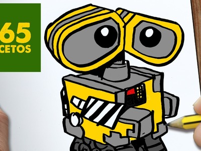 COMO DIBUJAR WALL E KAWAII PASO A PASO - Dibujos kawaii faciles - How to draw a Wall E