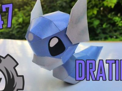 Como hacer .  a Dratini  papercraft
