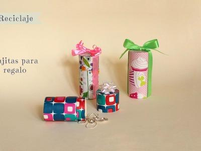 Como hacer cajitas para regalo recicladas