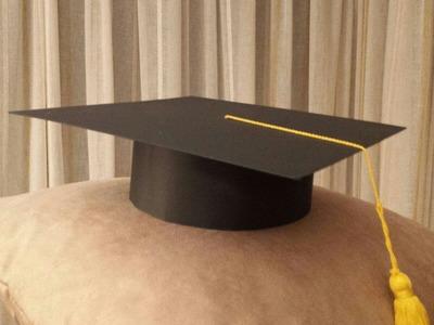 Cómo hacer un birrete de graduación escolar de cartulina. Haw to make graduation cap