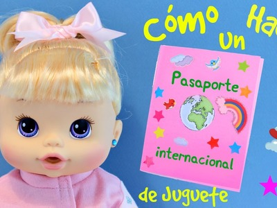 Como hacer un Pasaporte de Juguete para Muñecas