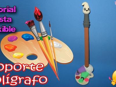 ♥ Tutorial: Soporte para Bolígrafo de Pasta Flexible | Porcelana Fría | Foamy Moldeable ♥