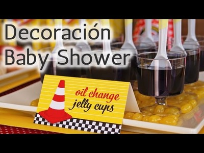 40 Ideas Decoración para Baby Shower Temático: Autos HD