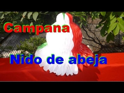 CAMPANA TRICOLOR NIDO DE ABEJA - TRICOLOUR BELL NIDO DE ANEJA