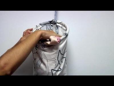 Cómo confeccionar una bolsa para la ropa sucia