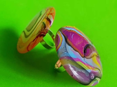 Como hacer anillos llenos de color y super rapido