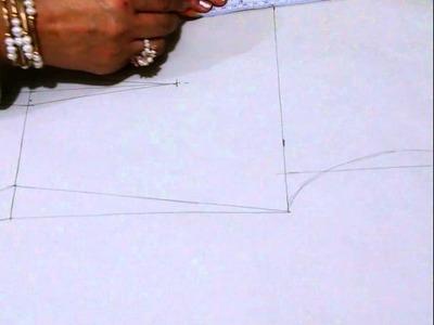 Como hacer trazo para faja manta reductiva Parte 1