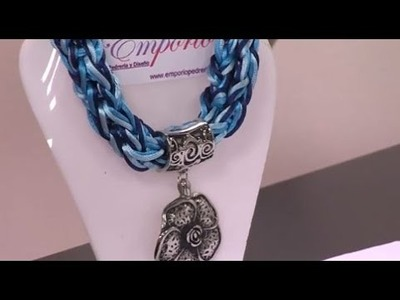 Como hacer un collar tejido en cordon de seda - Hogar Tv  por Juan Gonzalo Angel