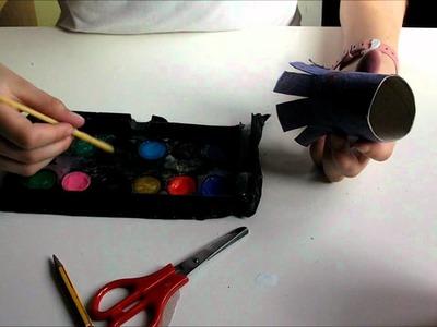 Como hacer un pulpo con material reciclado
