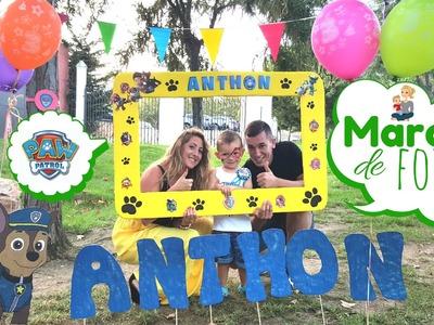 Cumpleaños PATRULLA CANINA- DIY: Marco de fotos paso a paso. PAW PATROL PHOTO BOOTH