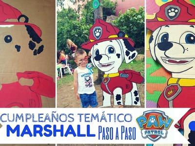 Cumpleaños PATRULLA CANINA. PAW PATROL - Pintar a MARSHALL Paso a Paso