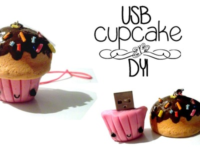 DECORA TU USB. DYI.  usb de cupcake.PORCELANA FRIA .