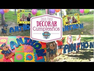 Decorar Cumpleaños PATRULLA CANINA. Poster de CHASE. PAW PATROL BIRTHDAY