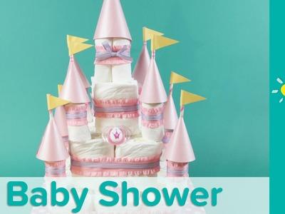 DIY Torta de Pañales para Baby Shower: Tema de Princesa | Pampers