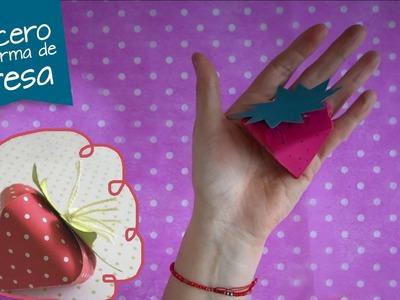 Dulcero de Papel en Forma de Fresa :: Chuladas Creativas