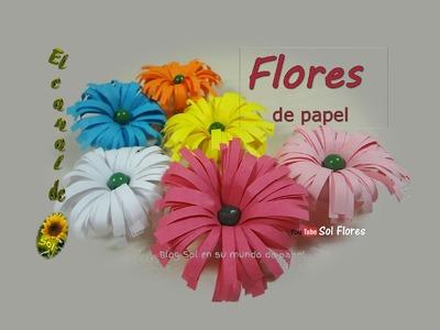 Flores de papel - paper flowers