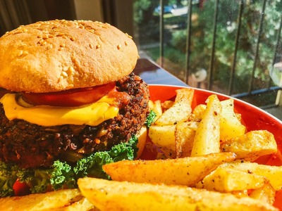 Hamburguesa Vegana a la Americana!!!!