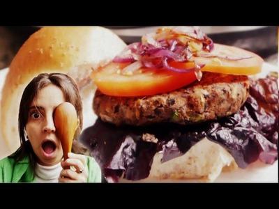 Hamburguesas de porotos negros. Hamburguesas vegetarianas - Paulina Cocina