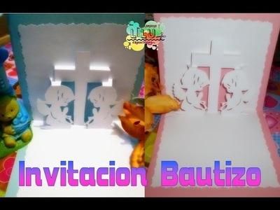 Invitacion para Bautizo, confirmación primera comunión 3D pop up