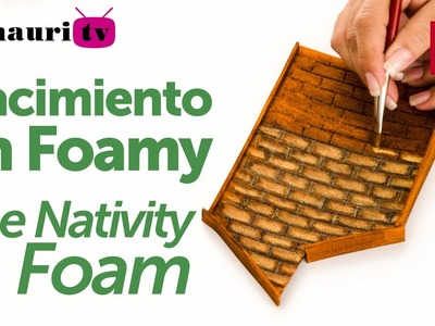 Nacimiento en Foamy ( Foam Holy Family Christmas ) 1.4