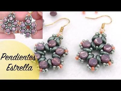 Pendientes Estrella con Pellet Beads y Superduo