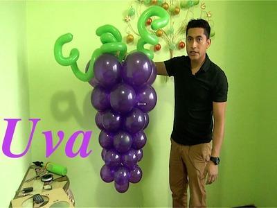 Racimo de uvas con globos para primera comunión fácil y económico