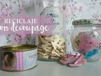 Reciclaje de botes y latas con Decoupage