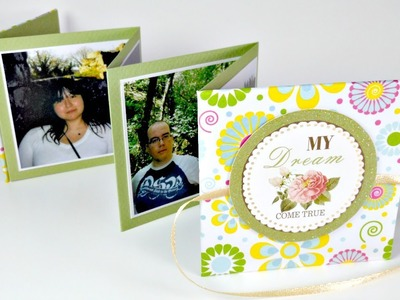 TUTORIAL: Mini álbum Acordeon MUY FÁCIL | Scrapbooking | Mundo@Party