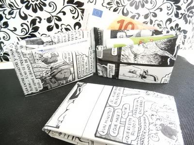 Cartera o billetera hecha de comics