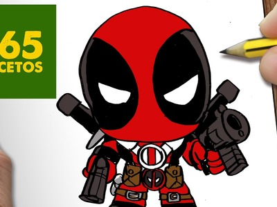 COMO DIBUJAR DEADPOOL KAWAII PASO A PASO - Dibujos kawaii faciles - How to draw a DEADPOOL