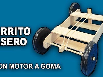 Como Hacer un Coche o Carro Casero de Madera Con Motor a Goma Paso a Paso│Rubber Car│Carrito Casero