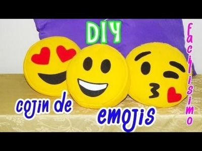 Como hacer un cojin de emojis