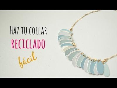 Cómo hacer un collar con materiales reciclados. Recycled necklace(English CC)