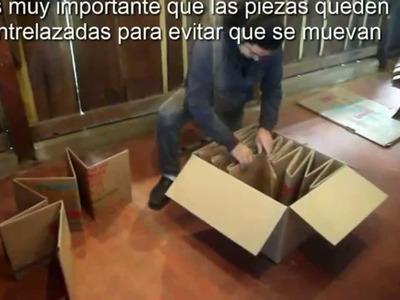 Como hacer una cama para bebes con cartón