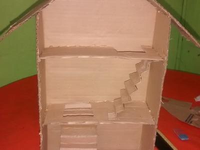 Como hacer una casita de muñecas de cartón