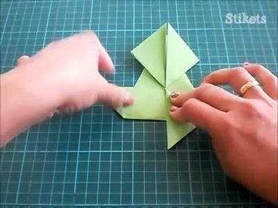 Cómo hacer una rana de papel paso a paso