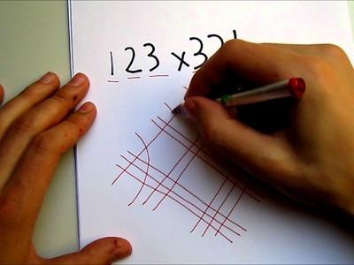 Como multiplican los ingenieros japoneses y chinos. Multiplicar con rayas o líneas