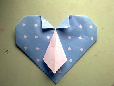 Corazón con corbata - Origami (Día del Padre)