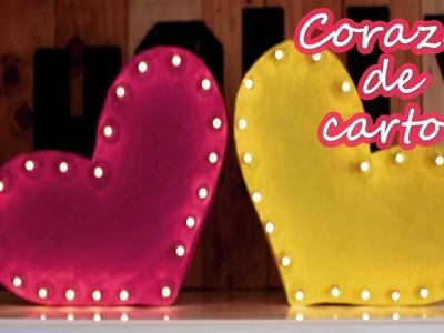 Corazón de cartón 3D con luces, Regalo para san valentín - Mery