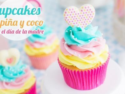 Cupcakes de Piña y Coco | Idea día de la madre | Quiero Cupcakes!