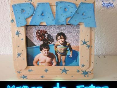DIY Como hacer un marco fotos para regalar el dia del padre