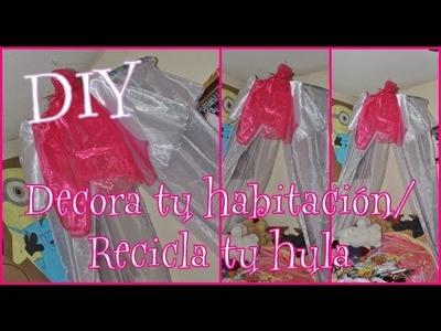 DIY ♥ Decora tu habitación  ♥ Mosquitero ♥ Recicla tu hula