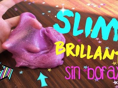 DIY: ¡SLIME BRILLANTE SIN BÓRAX!✰-BlueCloud