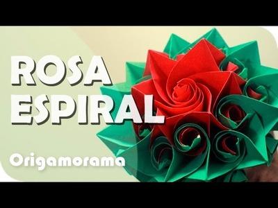 Haz una ROSA ESPIRAL de PAPEL!!!