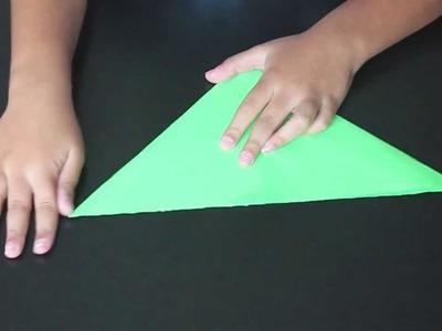 Origami -  Como hacer una rana de papel