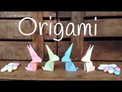 ORIGAMI fácil para niños | Cómo hacer CONEJITOS de papel
