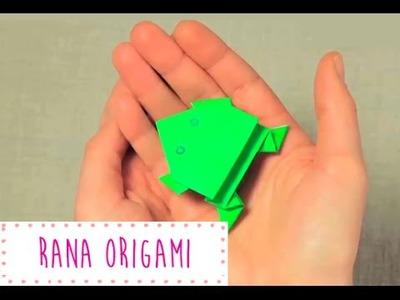 Rana de Origami.Papiroflexia que salta