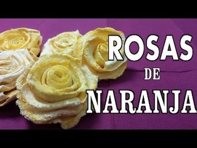 Rosas de naranja perfumadas para decoración , como hacerla - ORANGE ROSES