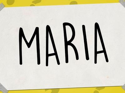 SACAR UN DIBUJO DE MI NOMBRE - Dibujos faciles paso a paso - MARIA
