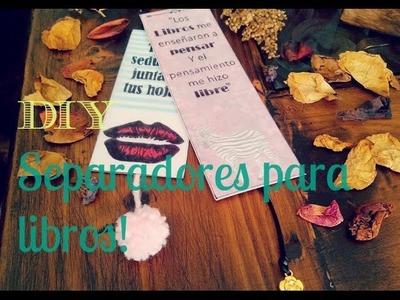 SEPARADOR PARA LIBROS ♥ (personaliza tu libro favorito!)